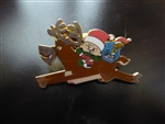 Disney Trading Pin 27388 Stanley Riding Reindeer