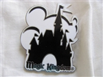 Disney Trading Pin 2881: WDW Magic Kingdom - Mickey & Cinderella's Castle (Black/White)