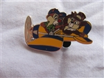 Disney Trading Pin 30068: WDW Travel Company 2004 Chip & Dale in an airplane