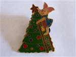 Disney Trading Pin 30697 DS - Pooh & Friends An Enchanted Christmas - 1998 Tin Set ( Piglet Decorating Tree)