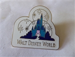Disney Trading Pins  3176 WDW - Blue Castle with Fireworks (Logo)