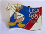 Disney Trading Pin 32172 USA Olympic Starter Lanyard Pin - Donald Duck