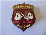 Disney Trading Pin 32892 Disney Auctions (P.I.N.S.) - Chip & Dale Fan Club Black Artist Proof
