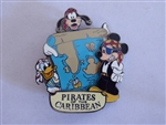 Disney Trading Pin 3303 DL - Pirates of the Caribbean Treasure Map (Mickey, Goofy & Donald)