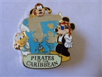 Disney Trading Pin  DL - Pirates of the Caribbean Treasure Map (Mickey, Goofy & Donald) Artist Proof