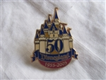 Disney Trading Pin 36303: Annual Report Disneyland 50 Years Castle Cast Gift