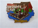 Disney Trading Pin 367 DL - 1998 Attraction Series - Rafts to Tom Sawyer Island