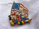 Disney Trading Pin 36785: Mickey Mouse, Goofy and Donald Duck Celebrating the Fourth of July