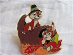 Disney Trading Pin 37468: Holiday Pin Collection - Set 2 (Chip & Dale/Thanksgiving)