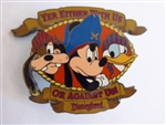 Disney Trading Pin  3806 DL - Yer Either With Us Or Against Us Pirates (FAB 3)