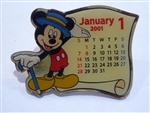 Disney Trading Pin 3843: TDL - January 2001 Calendar (Mickey)