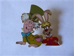 Disney Trading Pin   38605 WDW - Mickey's Toontown of Pin Trading Event - Goofy's Barnstormer (Framed Pin Set) Mad Hatter & March Hare