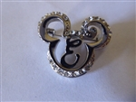 Disney Trading Pin 38708 DLR - Mickey Head w/Initial (Silver Jewelry) ''E''