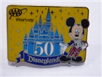 Disney Trading Pins 2005 AAA Travel Pin (Disneyland 50th Anniversary)