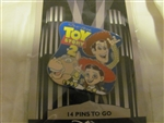 Disney Trading Pins 390: DS - Countdown to the Millennium Series #15 - Toy Story 2 (Woody , Jessie & Bullseye)