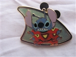 Disney Trading Pin 39741 Deluxe Starter Set - Lanyard and 8 Pin Set (Alien Stitch Standing in Red)