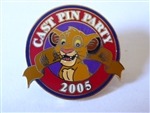 Disney Trading Pin 39794 WDW Cast Exclusive - Cast Pin Party 2005 (Simba)