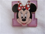 Disney Trading Pin 40263: Block Letters - Minnie Mouse 'M'