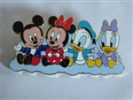 Disney Trading Pin 43062 Disney Mall - Fab Four Babies (Mickey, Minnie, Donald, Daisy)