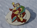 Disney Trading Pin Chip & Dale w/Food (Tie-Dyed Cheesecake)
