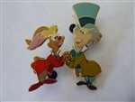 Disney Trading Pin 43379 Alice in Wonderland Framed 7 Pin Set (Mad Hatter & March Hare)