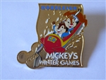 Disney Trading Pin 44902 JDS - Mickey's Winter Games - Chip & Dale Bobsleigh