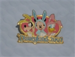 Disney Trading Pin 4551 Disneyland 2001 Easter - Fab 3 in Bunny Suits