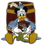 Disney Trading Pins Pirates of the Caribbean Starter Set (Pirate Donald Duck)