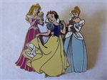 Disney Trading Pin 46754 Disney Mall - Princess Trio for Spring (Aurora, Snow White, & Cinderella) Artist Proof