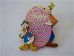Disney Trading Pin  46840 WDS Burbank Cast - Easter 2006 - Donald & Goofy