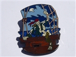 Disney Trading Pin  47072 DLR - Pirates of the Caribbean - Skeleton Climbing out of Ship
