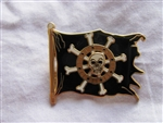 Disney Trading Pin 47077: Pirates of the Caribbean - Skull Flag (Spinner)
