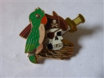 Disney Trading Pin  47085 DLR - Pirates of the Caribbean - Legend of the Golden Pins - Skull with Parrot