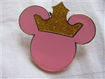 Disney Trading Pins 48111: Mickey Mouse Icon - Pink with Crown