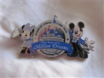 Disney Trading Pin 50026: DLR - The Year of a Million Dreams - Mickey and Minnie Mouse