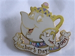 Disney Trading Pin 5019 DLR - Mother's Day 2001 (Mrs. Potts & Chip)
