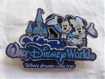 Disney Trading Pin 50209: WDW - Where Dreams Come True - Mickey and Minnie