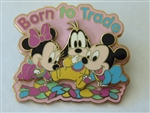 Disney Trading Pin  50775 DLR - Pin Trading Nights Collection 2006 - Born to Trade (Baby Minnie, Goofy & Mickey)