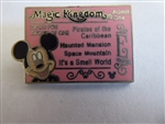 Disney Trading Pin 51164: WDW - Hidden Mickey Collection - Magic Kingdom Ticket (E/Mickey Mouse)