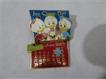 Disney Trading Pin 52192 DLR - 2007 Holidaze Calendar Collection - June (Huey, Dewey & Louie Duck)