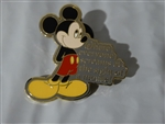 Disney Trading Pin Where Dreams Come True - Card Collection - Mickey Mouse