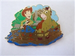 Disney Trading Pin 54631 DLR - Mickey's Pin Festival of Dreams - Wild West Collection - Rafts to Tom Sawyer Island