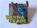 Disney Trading Pin 56020 WDW - Wanna Trade? (Stitch) 3D/Stained Glass