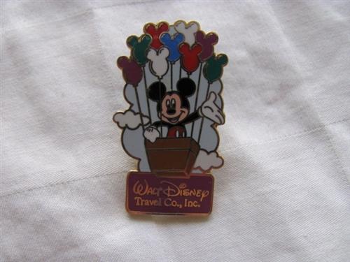 DISNEYLAND WALT DISNEY TRAVEL COMPANY 2002 MICKEY BALLOON BASKET LE DISNEY PIN