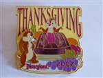 Disney Trading Pins  57959 DLR - Thanksgiving 2007 - Chip and Dale