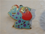 Disney Trading Pin 58156 DLR - A Disney-Pixar Holiday - Mystery Tin 4 Pin Set (Sulley Only)