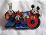 Disney Trading Pin 58795: WDW - Dated 2008 - Pivoting Character Heads