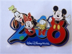 Disney Trading Pin  58795 WDW - Dated 2008 - Pivoting Character Heads -  Artist Proof