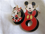 Disney Trading Pin 58986: Pin Trading Starter Set - Mickey and Friends ''2008'' (Minnie and Mickey Pin Only)