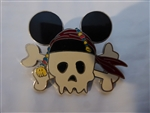 Disney Trading Pin 59095 Skull with Mouse Ears